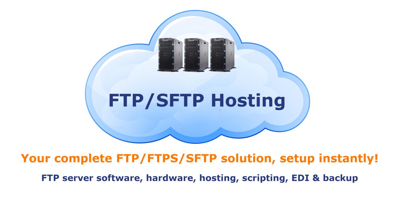 DriveHQ Cloud FTP / SFTP Server Hosting Service